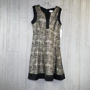 Signature by Robbie Bee NWT Gold Overlay Dress